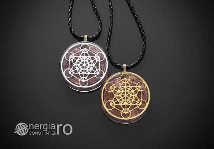 Amuleta-Talisman-Medalion-Colier-Pandant-Pandantiv-Orgonic-Orgon-Magnetic-Cubul-Lui-Metatron-Cristale-Ametist-ORG013-01