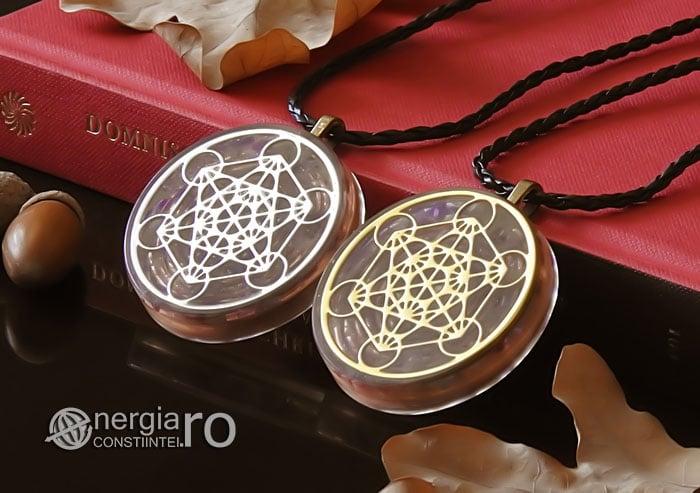 Amuleta-Talisman-Medalion-Colier-Pandant-Pandantiv-Orgonic-Orgon-Magnetic-Cubul-Lui-Metatron-Cristale-Ametist-ORG013-04