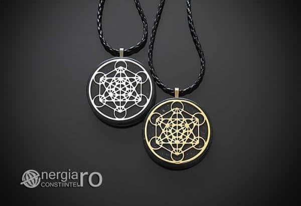 Amuleta-Talisman-Medalion-Colier-Pandant-Pandantiv-Orgonic-Orgon-Magnetic-Cubul-lui-Metatron-Cenusa-Vulcanica-Turmalina-ORG015-01