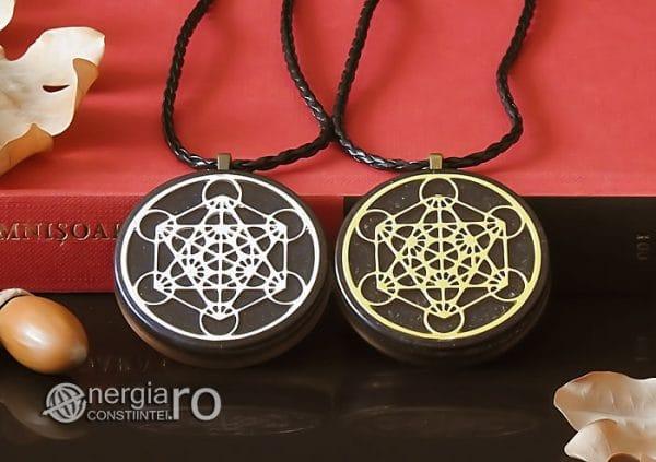 Amuleta-Talisman-Medalion-Colier-Pandant-Pandantiv-Orgonic-Orgon-Magnetic-Cubul-lui-Metatron-Cenusa-Vulcanica-Turmalina-ORG015-06
