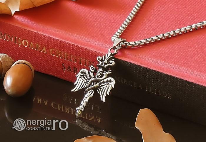 Amuleta-Talisman-Medalion-Colier-Pandant-Pandantiv-Caduceu-INOX-PND201-04