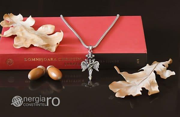 Amuleta-Talisman-Medalion-Colier-Pandant-Pandantiv-Caduceu-INOX-PND201-05