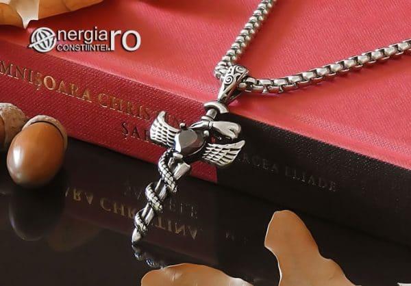 Amuleta-Talisman-Medalion-Colier-Pandant-Pandantiv-Caduceu-Protectie-Protector-Protectoare-INOX-PND202-04