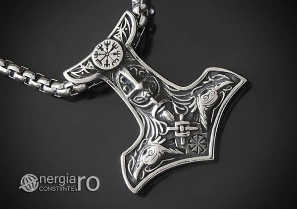 Amuleta-Talisman-Medalion-Colier-Pandant-Pandantiv-Ciocanul-lui-Thor-Protectie-Protector-Protectoere-INOX-PND151-00