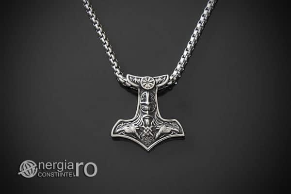 Amuleta-Talisman-Medalion-Colier-Pandant-Pandantiv-Ciocanul-lui-Thor-Protectie-Protector-Protectoere-INOX-PND151-01