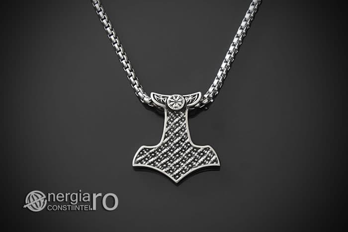 Amuleta-Talisman-Medalion-Colier-Pandant-Pandantiv-Ciocanul-lui-Thor-Protectie-Protector-Protectoere-INOX-PND151-02