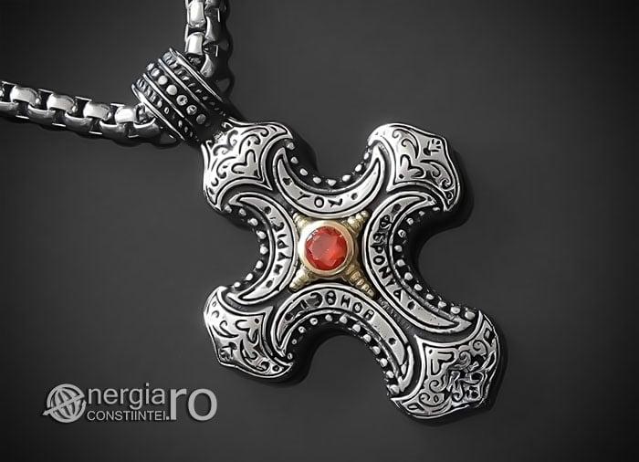Amuleta-Talisman-Medalion-Colier-Pandant-Pandantiv-Cruce-Cruciulita-Crucifix-INOX-PND230-00