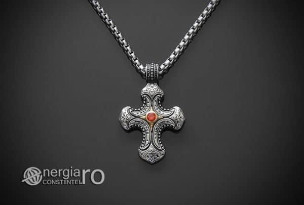 Amuleta-Talisman-Medalion-Colier-Pandant-Pandantiv-Cruce-Cruciulita-Crucifix-INOX-PND230-01