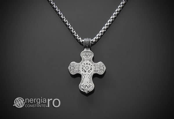 Amuleta-Talisman-Medalion-Colier-Pandant-Pandantiv-Cruce-Cruciulita-Crucifix-INOX-PND230-02