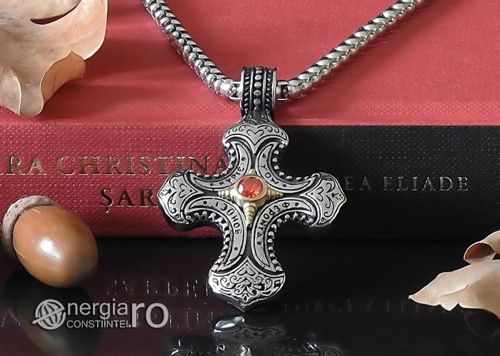 Amuleta-Talisman-Medalion-Colier-Pandant-Pandantiv-Cruce-Cruciulita-Crucifix-INOX-PND230-06