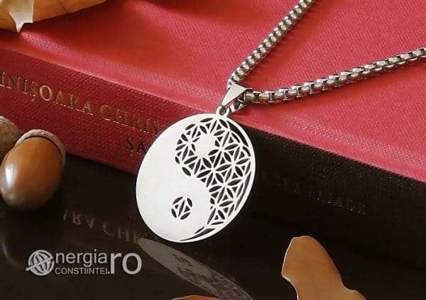 Amuleta-Talisman-Medalion-Colier-Pandant-Pandantiv-Yin-Yang-Floarea-Vietii-INOX-PND087-03