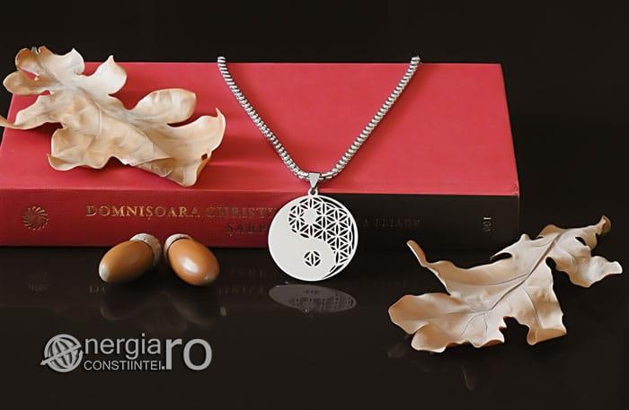 Amuleta-Talisman-Medalion-Colier-Pandant-Pandantiv-Yin-Yang-Floarea-Vietii-INOX-PND087-04