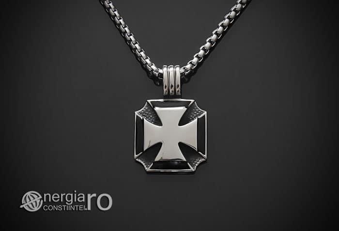 amuleta-talisman-medalion-colier-pandant-pandantiv-crucea-malteza-de-fier-protector-protectoare-protectie-inox-PND074-01