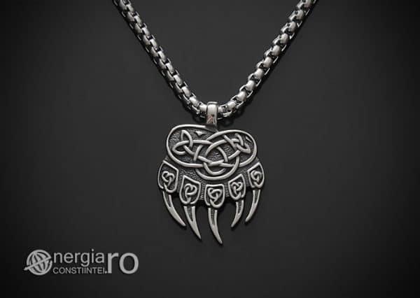 amuleta-talisman-medalion-colier-pandant-pandantiv-protector-protectoare-protectie-laba-gheara-de-urs-inox-pnd235-01