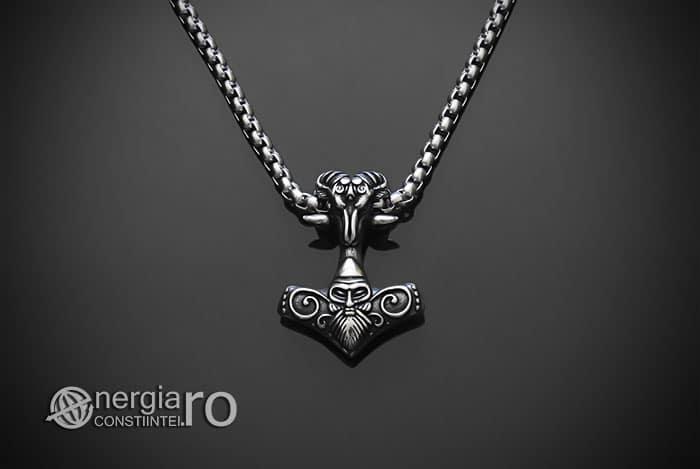 Amuleta-Talisman-Medalion-Colier-Pandant-Pandantiv-Ciocanul-lui-Thor-Mjolnir-INOX-PND152-01