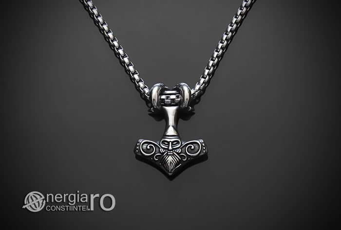 Amuleta-Talisman-Medalion-Colier-Pandant-Pandantiv-Ciocanul-lui-Thor-Mjolnir-INOX-PND152-02