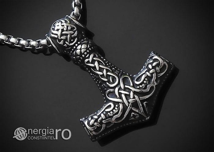 Amuleta-Talisman-Medalion-Colier-Pandant-Pandantiv-Ciocanul-lui-Thor-Mjolnir-INOX-PND153-00