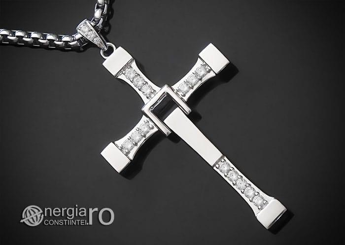 Amuleta-Talisman-Medalion-Colier-Pandant-Pandantiv-Cruciulita-Cruce-Crucifix-Vin-Diesel-Fast-And-Furious-Dominic-Toretto-Argint-PND949-00