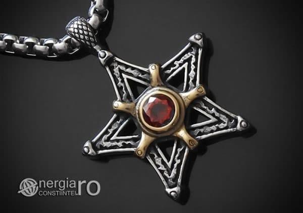 Amuleta-Talisman-Medalion-Colier-Pandant-Pandantiv-Pentaclu-Pentagrama-Protector-Protectie-INOX-00