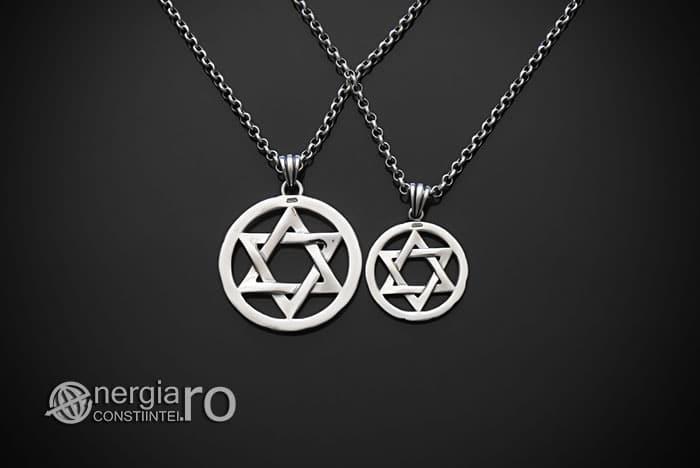 Amuleta-Talisman-Medalion-Colier-Pandant-Pandantiv-Steaua-lui-David-Hexagrama-Argint-PND916-02