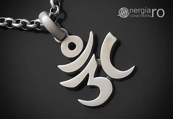 Amuleta-Talisman-Medalion-Colier-Pandant-Pandantiv-Aum-Om-Argint-Simbol-Sacru-Mistic-ORG930-00