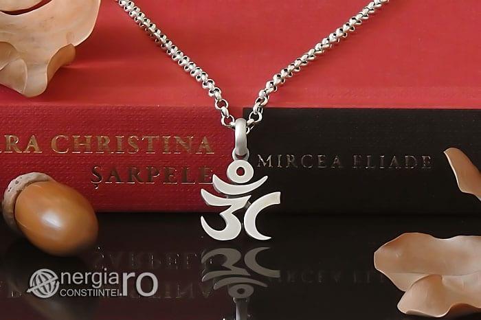 Amuleta-Talisman-Medalion-Colier-Pandant-Pandantiv-Aum-Om-Argint-Simbol-Sacru-Mistic-ORG930-06