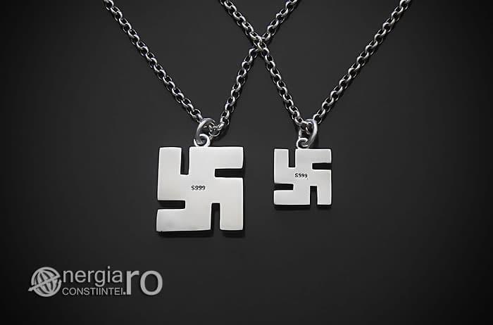 Amuleta-Talisman-Medalion-Colier-Pandant-Pandantiv-Svastica-Ajna-Argint-PND935-02