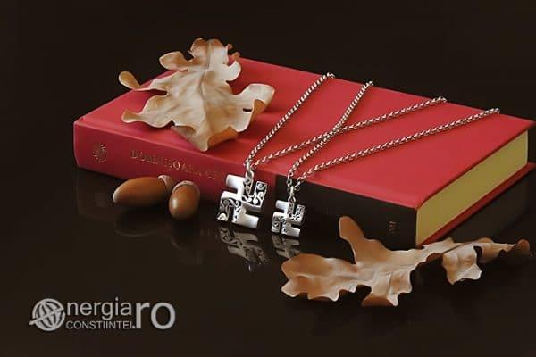 Amuleta-Talisman-Medalion-Colier-Pandant-Pandantiv-Svastica-Ajna-Argint-PND935-03