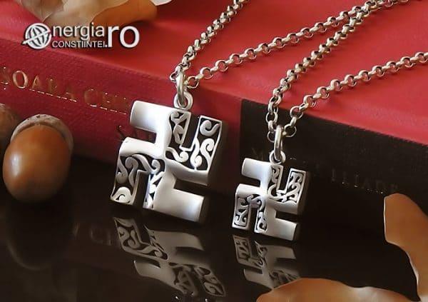 Amuleta-Talisman-Medalion-Colier-Pandant-Pandantiv-Svastica-Ajna-Argint-PND935-04