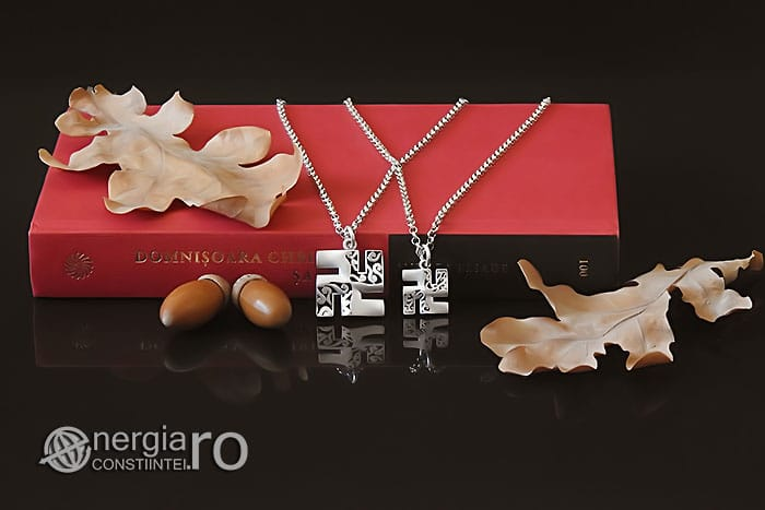 Amuleta-Talisman-Medalion-Colier-Pandant-Pandantiv-Svastica-Ajna-Argint-PND935-05