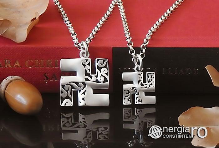Amuleta-Talisman-Medalion-Colier-Pandant-Pandantiv-Svastica-Ajna-Argint-PND935-06