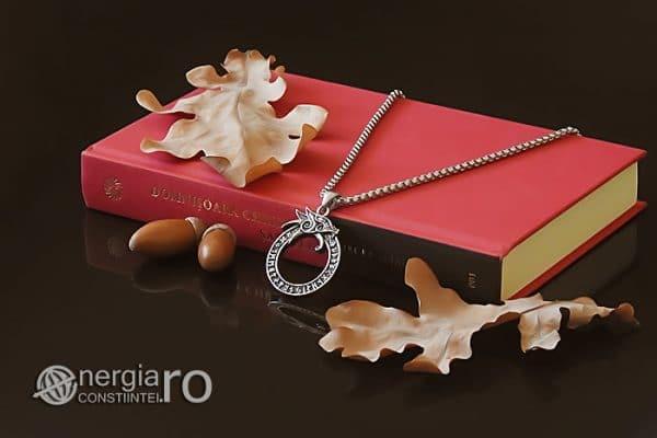 Amuleta-Talisman-Medalion-Colier-Pandant-Pandantiv-Uroborus-Ouroboro-INOX-PND116-02