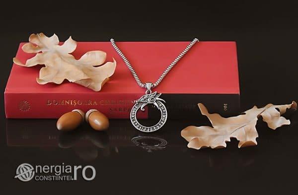 Amuleta-Talisman-Medalion-Colier-Pandant-Pandantiv-Uroborus-Ouroboro-INOX-PND116-04