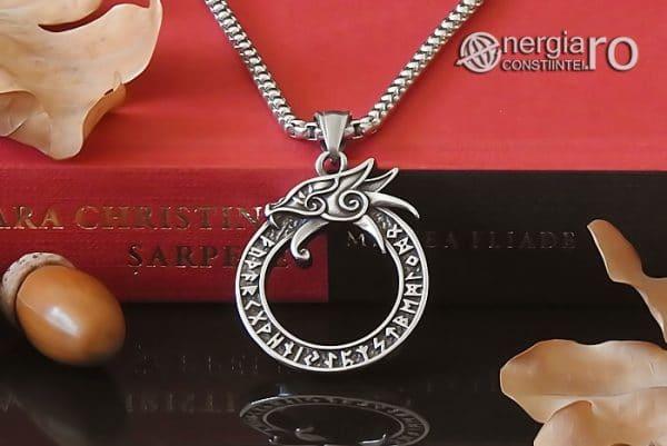 Amuleta-Talisman-Medalion-Colier-Pandant-Pandantiv-Uroborus-Ouroboro-INOX-PND116-05