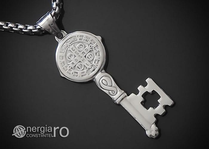 Amuleta-Talisman-Medalion-Colier-Pandant-Pandantiv-Cheia-Vietii-Succesului-Fericirii-Norocului-Belsugului-Prosperitatii-INOX-PND260-00