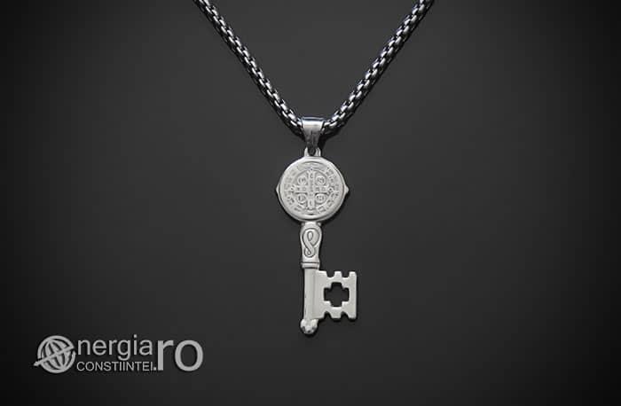 Amuleta-Talisman-Medalion-Colier-Pandant-Pandantiv-Cheia-Vietii-Succesului-Fericirii-Norocului-Belsugului-Prosperitatii-INOX-PND260-01