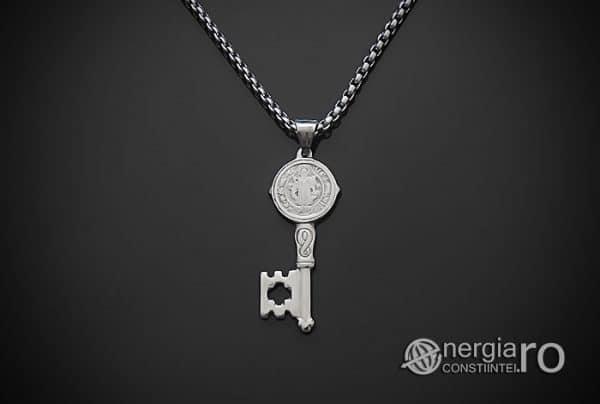 Amuleta-Talisman-Medalion-Colier-Pandant-Pandantiv-Cheia-Vietii-Succesului-Fericirii-Norocului-Belsugului-Prosperitatii-INOX-PND260-02