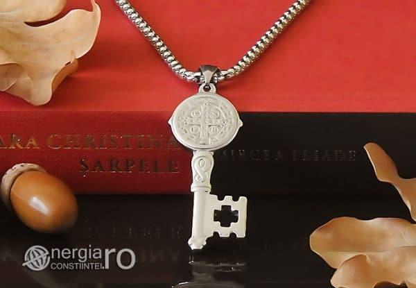 Amuleta-Talisman-Medalion-Colier-Pandant-Pandantiv-Cheia-Vietii-Succesului-Fericirii-Norocului-Belsugului-Prosperitatii-INOX-PND260-06