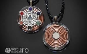 Amuleta-Talisman-Medalion-Colier-Pandant-Pandantiv-Orgon-Orgonic-Magnetic-Spirala-Cupru-Cubul-lui-Metatron-Sapte-Chakre-ORG018-00