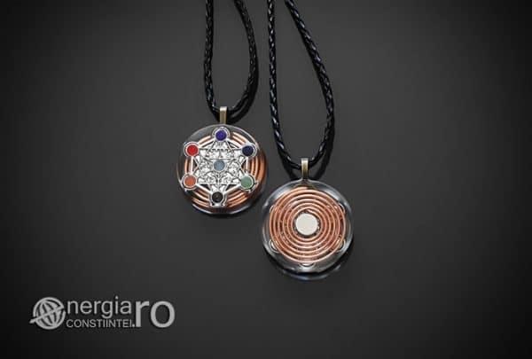 Amuleta-Talisman-Medalion-Colier-Pandant-Pandantiv-Orgon-Orgonic-Magnetic-Spirala-Cupru-Cubul-lui-Metatron-Sapte-Chakre-ORG018-01