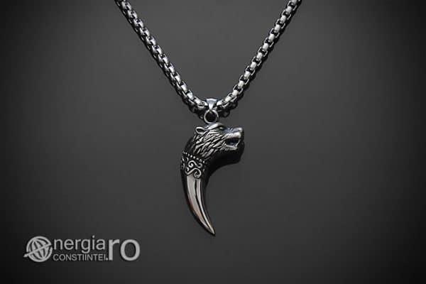 Amuleta-Talisman-Medalion-Colier-Pandant-Pandantiv-Protectie-Protector-Protectoare-Colt-de-Lup-INOX-PND174-01
