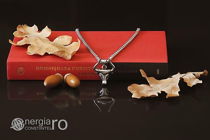 Amuleta-Talisman-Medalion-Colier-Pandant-Pandantiv-Protectir-Protector-Protectoare-Bour-Taur-Bou-Bizon-INOX-PND250-04
