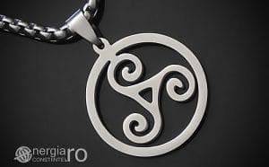 Amuleta-Talisman-Medalion-Colier-Pandant-Pandantiv-Triskelion-Triskele-Protector-Protectoare-Protectie-INOX-PND255-00
