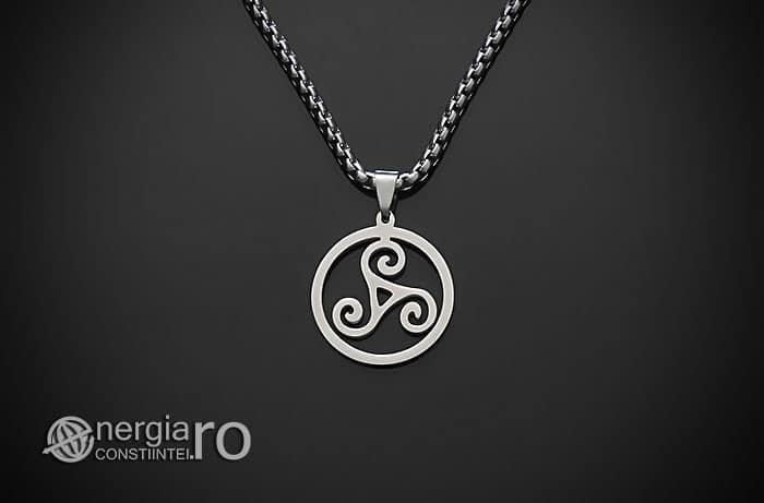 Amuleta-Talisman-Medalion-Colier-Pandant-Pandantiv-Triskelion-Triskele-Protector-Protectoare-Protectie-INOX-PND255-01