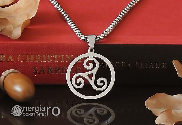 Amuleta-Talisman-Medalion-Colier-Pandant-Pandantiv-Triskelion-Triskele-Protector-Protectoare-Protectie-INOX-PND255-05