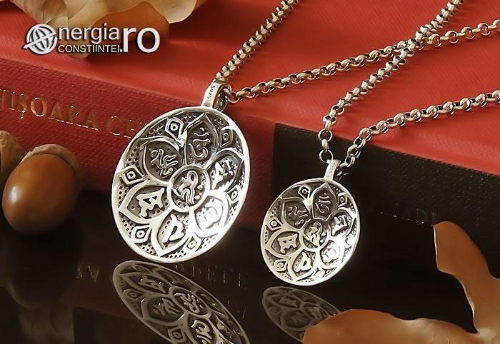 Amuleta-Talisman-Medalion-Pandant-Pandantiv-Protector-Protectie-Om-Mani-Padme-Hum-Hindus-Svastica-Argint-PND945-04