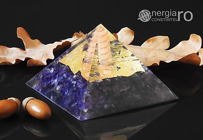 Piramida-Orgonica-Orgon-Energetica-Protectoare-Protectie-Cristale-Ametist-Spirala-Cupru-Foita-Aur-Magnet-Neodim-ORG057-00