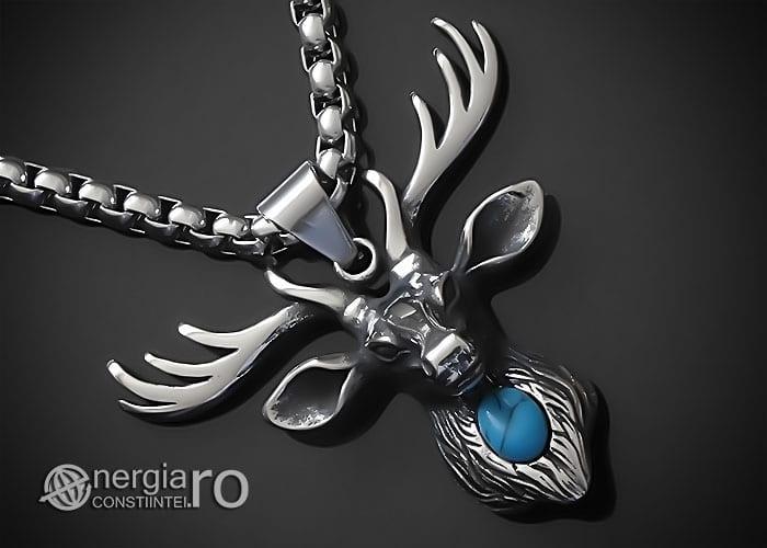 Amuleta-Talisman-Medalion-Colier-Pandant-Pandantiv-Cerb-Masculin-INOX-PND275-00