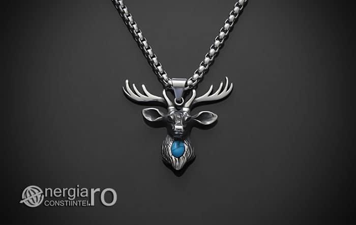 Amuleta-Talisman-Medalion-Colier-Pandant-Pandantiv-Cerb-Masculin-INOX-PND275-01