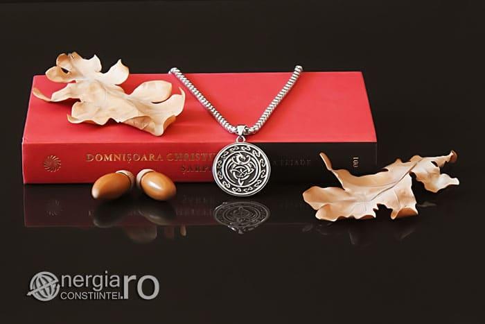 Amuleta-Talisman-Medalion-Colier-Pandant-Pandantiv-Dragon-Triquetra-INOX-PND256-05